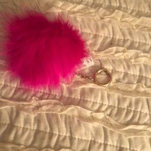 Express hot pink puff purse charm